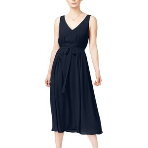 NWT maison Jules Womens Belted Fit & Flare Dress